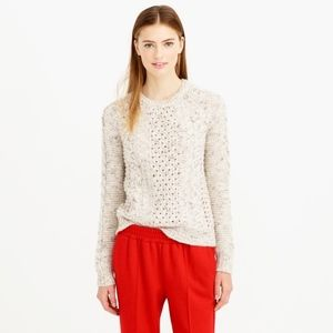 J.Crew Mohair-Blend Pointelle Cable Sweater